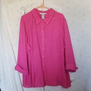 Plus size Pink Blouse